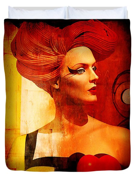 Calypso Mama Duvet Cover by Chuck Staley