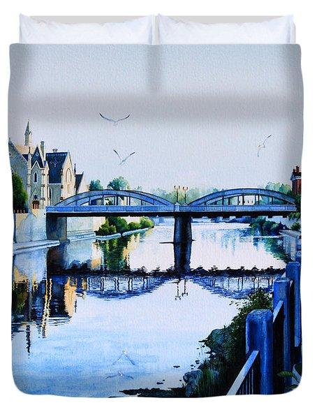 Cambridge Summer Morning Duvet Cover by Hanne Lore Koehler