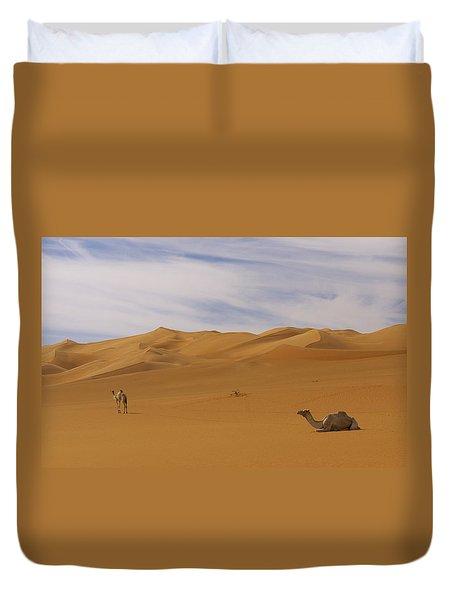 Camels Duvet Cover by Ivan Slosar