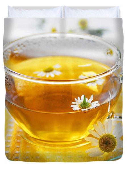 Camomile tea Duvet Cover by Elena Elisseeva