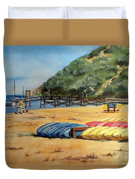 Camp Del Corazon  Duvet Cover by Lee Piper