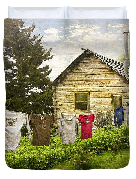 Camp Leconte Duvet Cover by Debra and Dave Vanderlaan