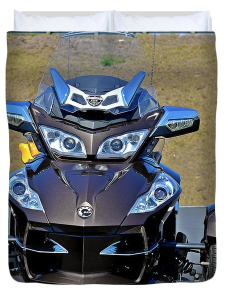 Can-am Spyder - The Spyder Five Duvet Cover by Christine Till