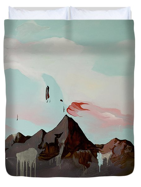 Can You See The Skull Duvet Cover by Joseph Demaree