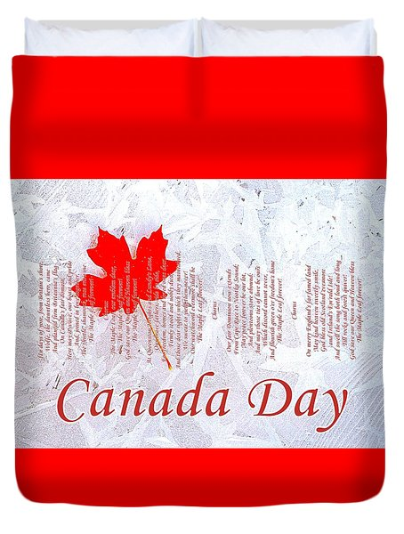 Canada Day .. The Maple Leaf Forever Duvet Cover by The Creative Minds Art and Photography