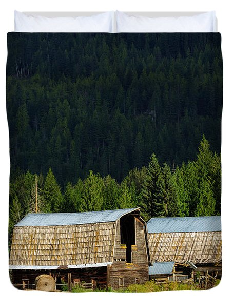 Canadian Twins Duvet Cover by Kathleen Bishop