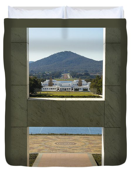 Canberra - Parliament House View Duvet Cover by Steven Ralser