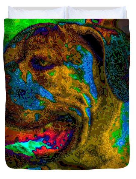 Cane Corso Pop Art Duvet Cover by Eti Reid