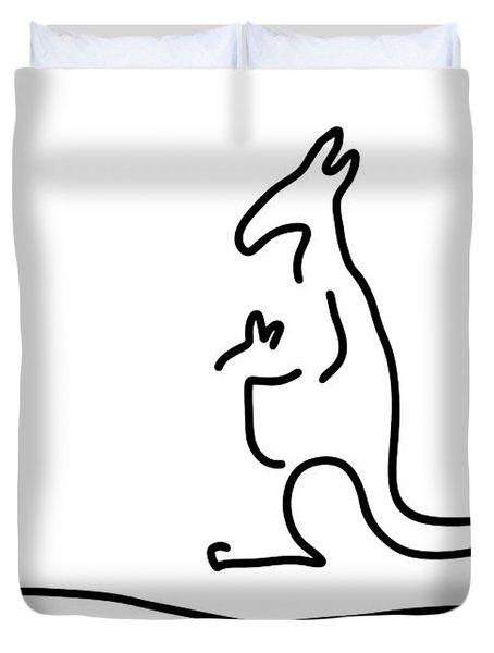 Cangarooh Kaenguru Bag Baby Duvet Cover by Lineamentum
