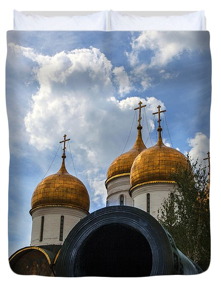 Cannon And Cathedral  - Russia Duvet Cover by Madeline Ellis