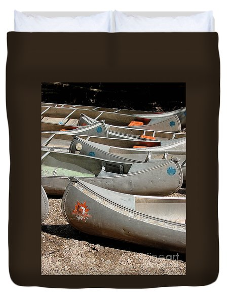 Canoes 143 Duvet Cover by Gary Gingrich Galleries