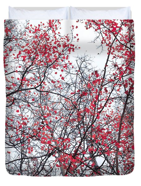 Canopy Trees Duvet Cover by Priska Wettstein