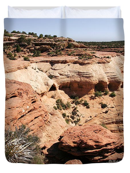Canyon de Chelly - Land of Standing Rock Duvet Cover by Christine Till