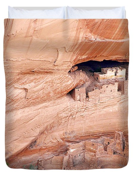 Canyon de Chelly White House Ruins Duvet Cover by Christine Till