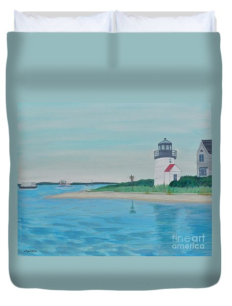 Cape Cod Chatham Lighthouse Duvet Cover by Sally Rice