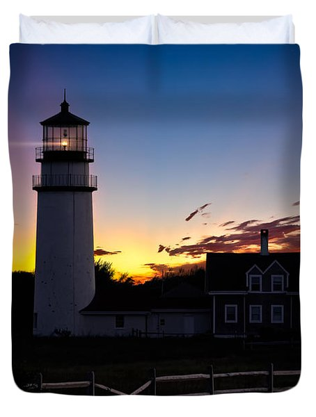Cape Cod Light Duvet Cover by Bill  Wakeley