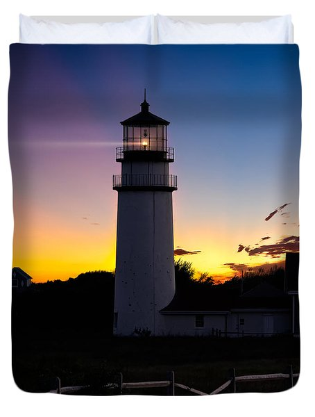 Cape Cod Light Square Duvet Cover by Bill  Wakeley