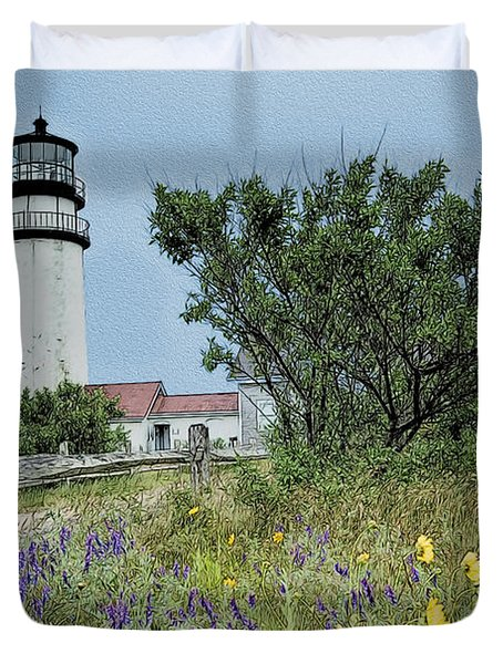 Cape Cod Lighthouse Duvet Cover by John Haldane