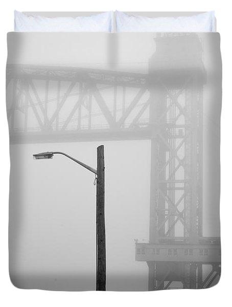 Cape Cod Railroad Bridge No. 3 Duvet Cover by David Gordon