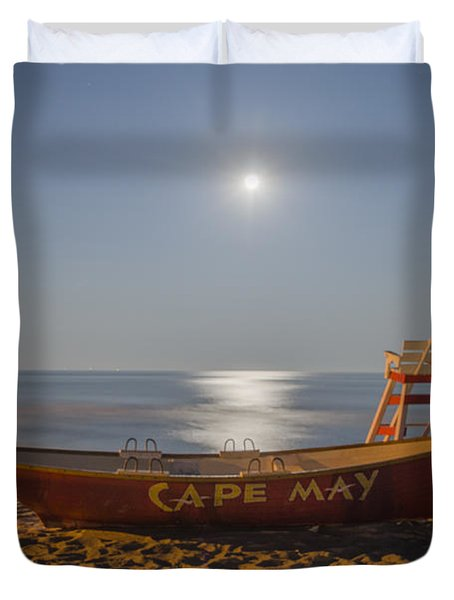 Cape May by Moonlight Duvet Cover by Bill Cannon