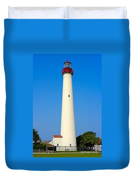 Cape May Lighthouse Duvet Cover by Anthony Sacco