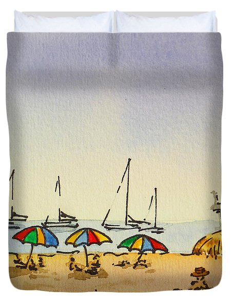 Capitola - California Sketchbook Project  Duvet Cover by Irina Sztukowski