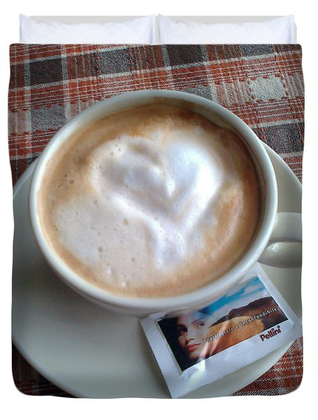 Cappuccino Love Duvet Cover by Ausra Huntington nee Paulauskaite