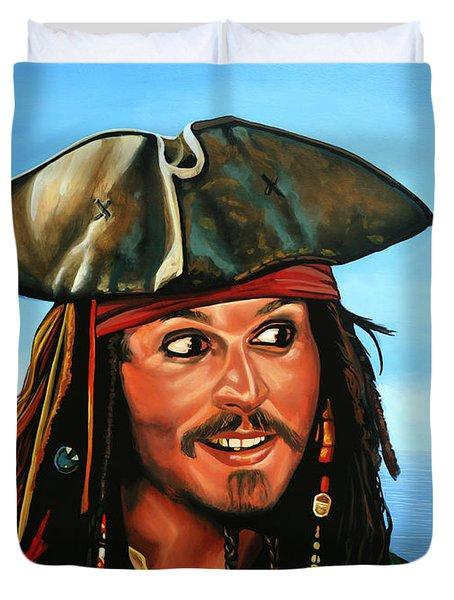 Captain Jack Sparrow Duvet Cover by Paul  Meijering