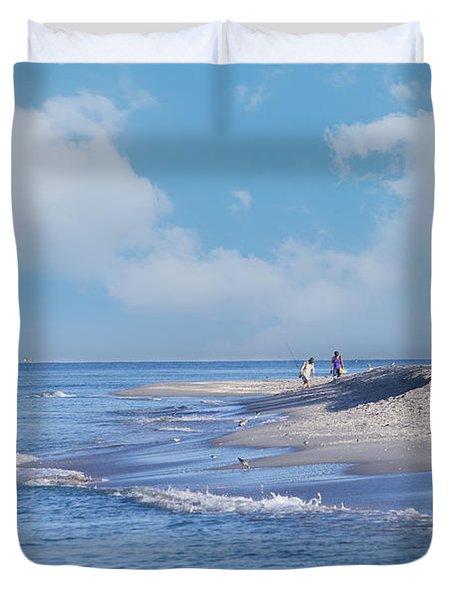 Captiva Island Duvet Cover by Kim Hojnacki