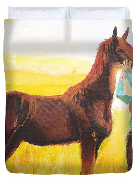 Captive Audience Duvet Cover by Judy Kay