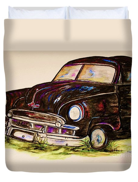Car Of Character Duvet Cover by Eloise Schneider