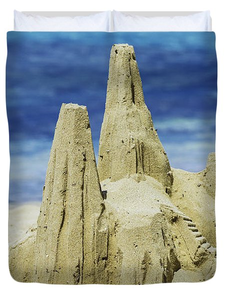 Caribbean Sand Castle  Duvet Cover by Betty LaRue