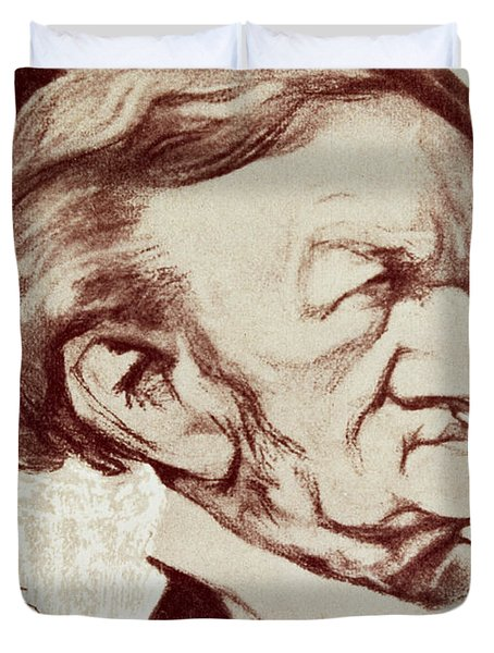 Caricature Of Richard Wagner Duvet Cover by Anonymous