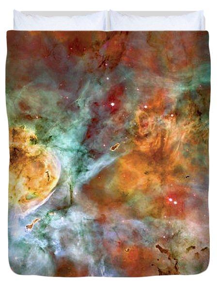 Carina Nebula - Interpretation 1 Duvet Cover by The  Vault - Jennifer Rondinelli Reilly