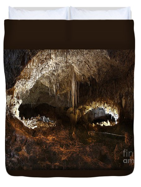 Carlsbad Caverns #3 Duvet Cover by Kathy McClure
