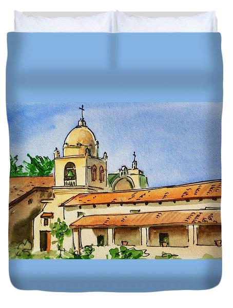 Carmel By The Sea - California Sketchbook Project  Duvet Cover by Irina Sztukowski