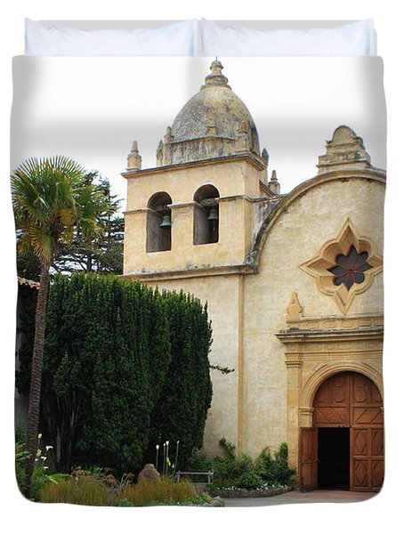 Carmel Mission Church Duvet Cover by Carol Groenen