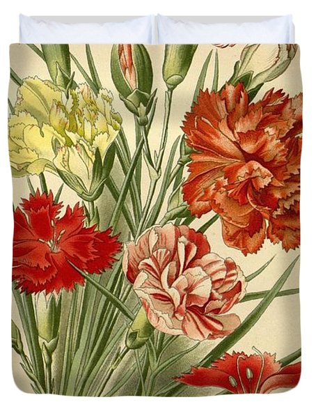 Carnations Duvet Cover by Philip Ralley