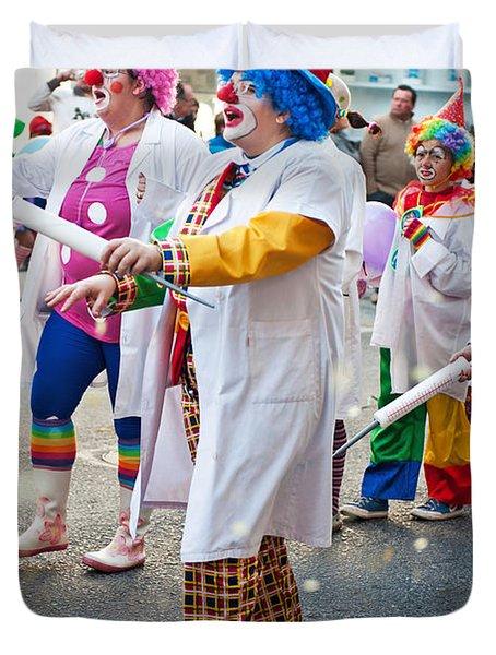 Carnaval De Ourem Duvet Cover by Luis Alvarenga