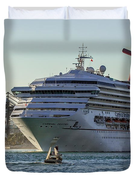 Carnival Cruise Line Destiny Duvet Cover by Rene Triay Photography