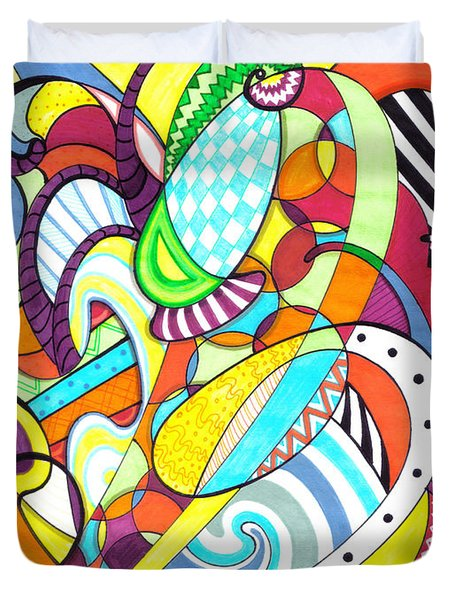 Carnival  Duvet Cover by Shawna  Rowe