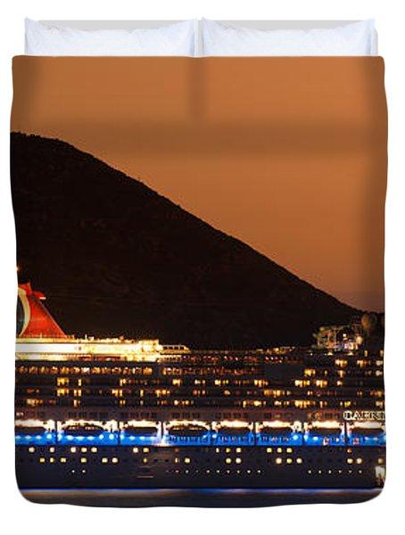 Carnival Splendor At Cabo San Lucas Duvet Cover by Sebastian Musial