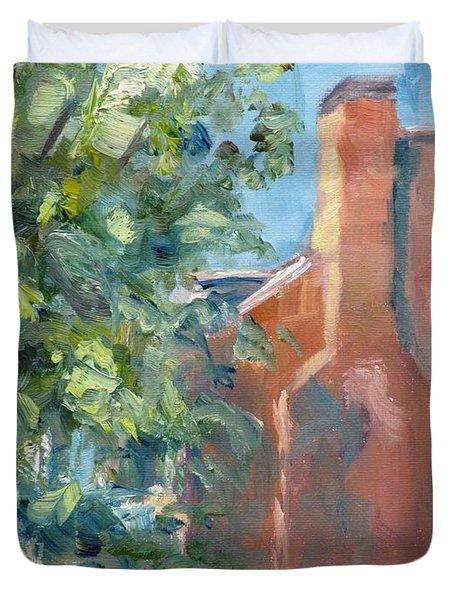 Carnton Plantation On A Spring Morning Duvet Cover by Susan E Jones