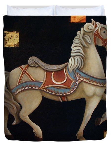 Carousel Horse Duvet Cover by Gerry High