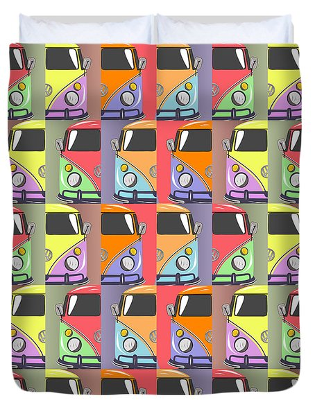 Cars Abstract  Duvet Cover by Mark Ashkenazi