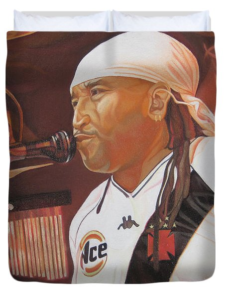 Carter Beauford at Red Rocks Duvet Cover by Joshua Morton