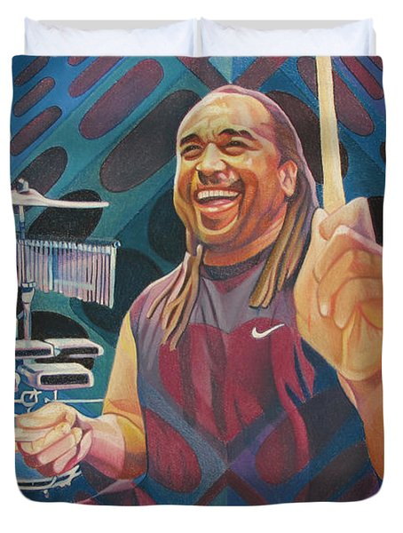 Carter Beauford Pop-op Series Duvet Cover by Joshua Morton