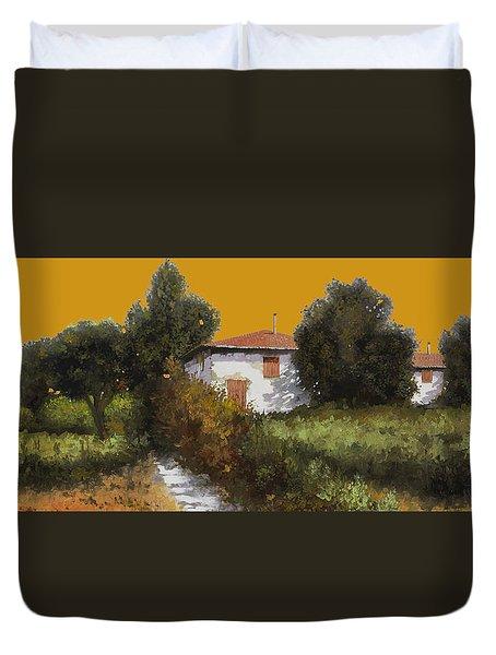 Casa Al Tramonto Duvet Cover by Guido Borelli
