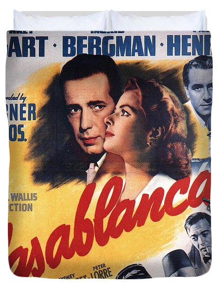 Casablanca In Color Duvet Cover by Georgia Fowler