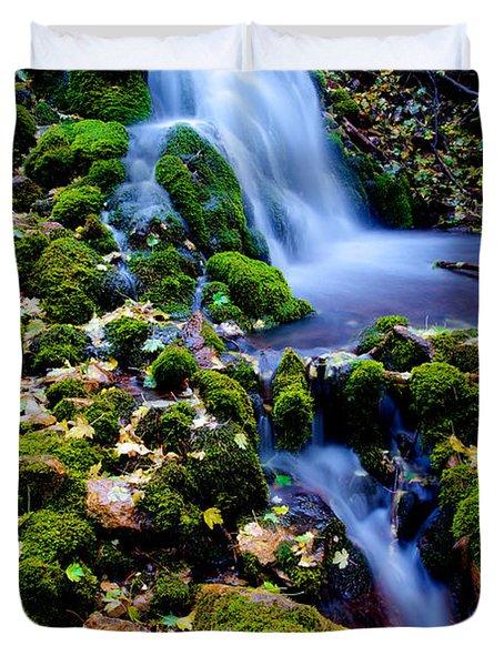 Cascade Creek Duvet Cover by Chad Dutson